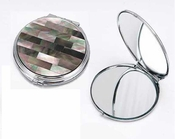 Tizo Black Mother of Pearl Compact Mirror