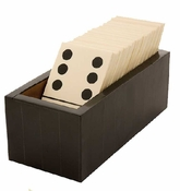 Tizo Bone Domino Set Black