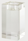Tizo Crystal Glass Block Candleholder Large