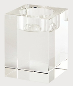 Tizo Crystal Glass Block Candleholder Medium
