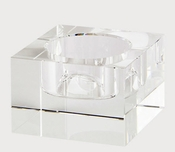 Tizo Crystal Glass Block Candleholder Small