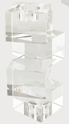 Tizo Crystal Glass Cubes Reversible Candleholder Large
