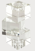 Tizo Crystal Glass Cubes Reversible Candleholder Medium