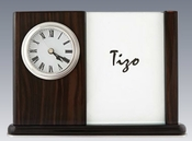 Tizo Ebony Clock and Photo Frame