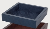 Tizo Faux Leather 7 X 7 Tray Blue