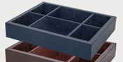 Tizo Faux Leather Valet Tray Blue