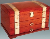 Tizo Italian Designed Wood Inlaid with 2 Drawers