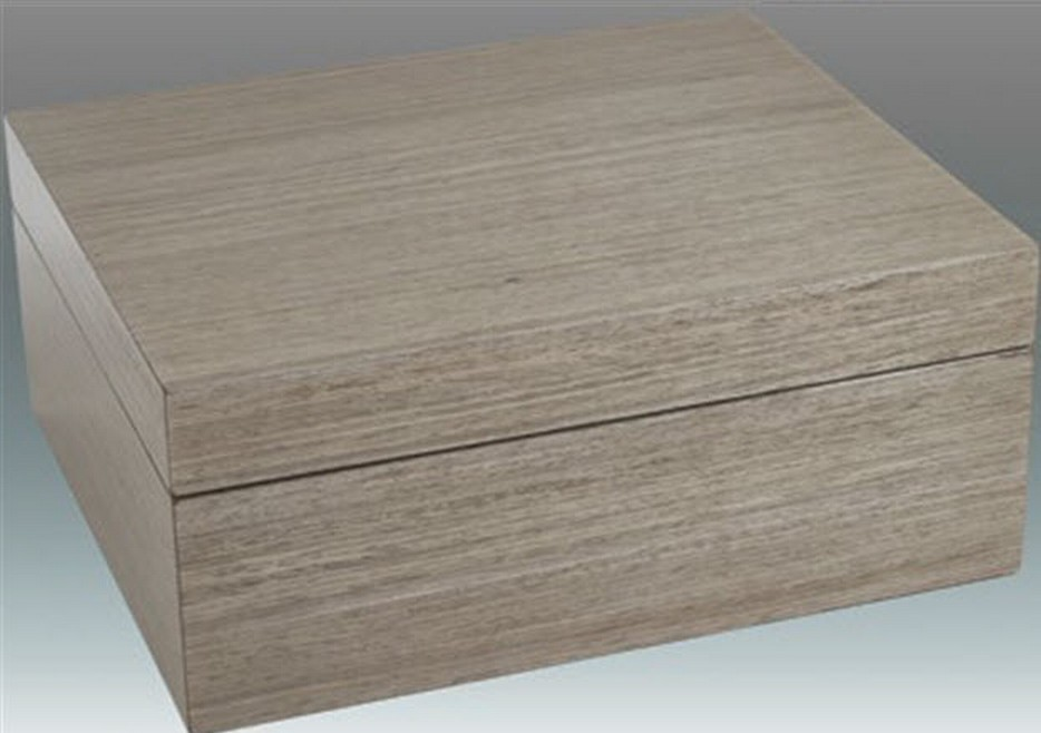 Tizo Italian Designed Wood Jewelry Box Grey