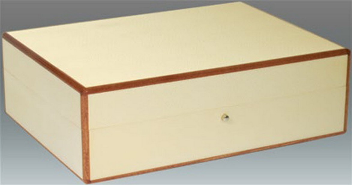 Tizo Italian Designed Wood Jewelry Box White