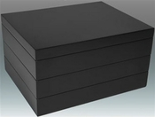 SOLD OUT - Tizo Italian Designed Wood Stackable Jewelry Box Black