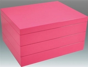 Tizo Italian Designed Wood Stackable Jewelry Box Hot Pink