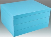 Tizo Italian Designed Wood Stackable Jewelry Box Turquoise