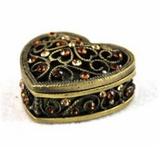 Tizo Jeweled Heart Ring/Trinket Box
