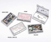 Tizo Pearl White Business Card Holder