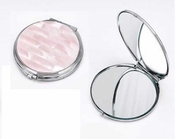 Tizo Pink Mother of Pearl Compact Mirror