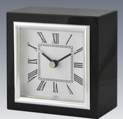 Tizo Square Clock Black