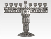 Tizo Tiffany White Diamond Menorah