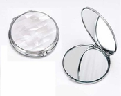 Tizo White Mother of Pearl Compact Mirror