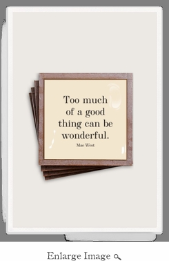 Too Much Of A Good Thing Copper & Glass Coasters 4 Pc Set