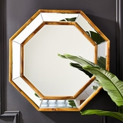 Tozai Home Bamboo Wall Mirror