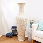Tozai Home - Long Necked Vase with MOP effect Porcelain