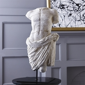 Sold Out - Tozai Home - Male Torso with Drape Sculpture