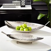 Tozai Home Set of 2 Leaf Trays