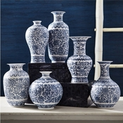 Tozai Home Set of 6 Decorator's Dynasty Vases