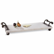 Mud Pie Twisted Handle Marble Board