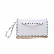 Urban Expressions Indie Clutch White - CLOSEOUT