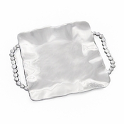 Beatriz Ball PEARL pearla sq tray w/handles