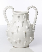 Vinci Two Handle White Ceramic Jug