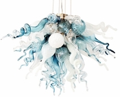 Viz Art Glass Cali Small Chandelier
