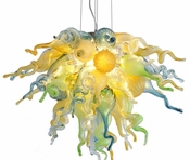 Viz Art Glass California Sunshine Large Chandelier