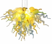 Viz Art Glass California Sunshine Small Chandelier