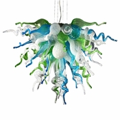 Viz Art Glass Ocean Mist Small Chandelier