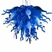 Viz Art Glass Small Blue Love Chandelier