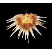 Viz Art Glass Starburst Amber Chandelier