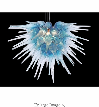 SOLD OUT - Viz Art Glass Starburst Aqua Chandelier