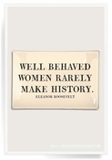 Well Behaved Women Decoupage Glass 4x6 Tray
