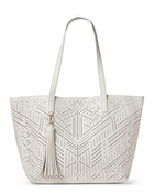 Celine Perforated Bag-In-Bag Tote White - CLOSEOUT