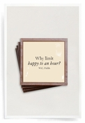 Why Limit Happy Copper & Glass Coasters 4 Pc Set