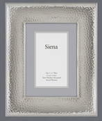 Wide Border Hammered Silverplate 5x7 Frame