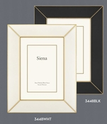 Wide Deco White Enamel with Gold 4x6 Frame