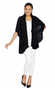 Sold Out - Women's Ultra-Versatile Convertible Short Shawl -Black