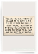 You Are The Blue To My Sky Decoupage Glass 5x8 Tray