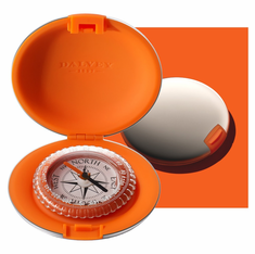 Dalvey Pocket Compass -Orange Stainless