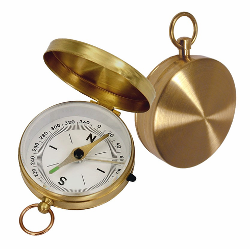 K&R Orbit 3 Brass Pocket Compass