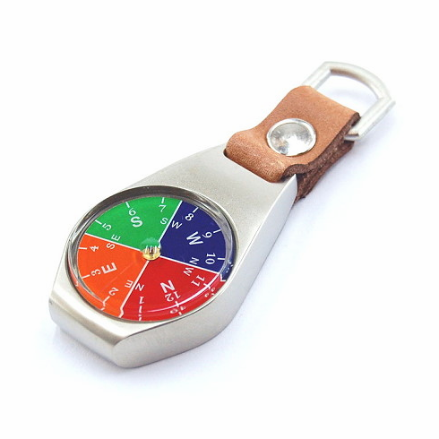Metal Key Fob Compass