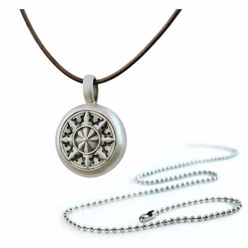 Pewter Compass Rose 2 Necklace